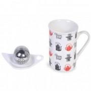 Cana ceramica ceai infuzor suport