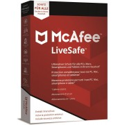 McAfee LiveSafe 2019 Unlimited Devices 1 an