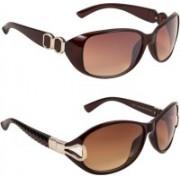 JOHAENA Butterfly Sunglasses(Brown, Brown)