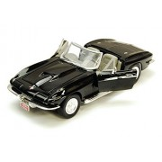 1967 Chevy Corvette, Black - Motormax 73224-1/24 scale Diecast Model Toy Car