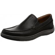 Clarks Men's Unmaslow Easy Black Leather Casual Loafers & Moccasins - 7 UK/India (41 EU)