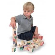 Cuburi litere si numere 50 buc