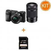 Kit Sony A6000 cu Obiectiv 16-50 F/3.5-5.6 OSS si 55-210 F/4.5-6.3 OSS + Sony SDXC 64GB