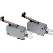 Microântrerupător cu tijă-arc şi rolă - 16(4)A / 250V AC, 28mm, 6,3x0,8 mm, IP00 KW3-51 - Tracon