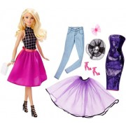 PAPUSA BARBIE FASHION MIX'N MATCH DOLL BLONDA - MATTEL (DJW57-DJW58)