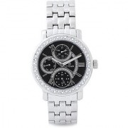 Titan Quartz Black Round Women Watch 9743SM02