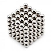 Puzzle 6mm perlas magneticas de juguete para ninos - de plata (125 PCS)