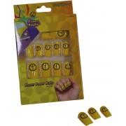 Gele peace nep nagels voor volwassenen - Schmink