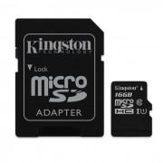 kingston microsd 16 GB UHS-I con adaptador SD SDC10G2 / 16GB