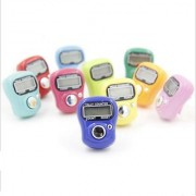 5 Pcs. Digital 5 Digit Hand Finger Digital Electronic Ring Tally Counter Japa counter- color assorted (multi color)