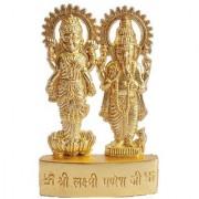 Satya Vipal Gold finish Laxmi And Ganesh Ji Idol [Metal] - 1 Pc