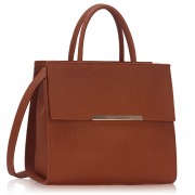 Kabelka LS00230A - Brown Grab Tote Bag