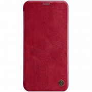 NILLKIN Qin Leather Folio Card Holder Phone Cover for iPhone 11 6.1 inch (2019) - Red