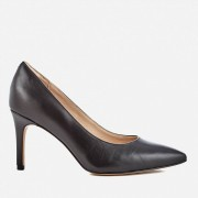 Clarks Women's Dinah Keer Leather Court Shoes - Black - UK 8 - Black