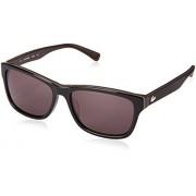 Lacoste L683S Wayfarer anteojos de sol, Negro, 55 mm