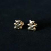 Semi Earring Jewelry Gold Plated Bear