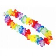Ghirlanda hawaiana cu floricele multicolore