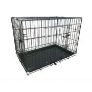 Hondenbench Premium Zwart (L) 93x57x62cm