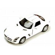 Mercedes-Benz SLS AMG, White - Kinsmart 5349D - 1/36 scale Diecast Model Toy Car