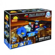 COBI Action Town Police Helicopter Set, 115 Piece Set