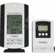 QUADRAT - Hőmérő, digitális, fekete-szürke, 2 egység