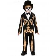 Deguisetoi Déguisement squelette élégant garçon - Taille: 5 à 6 ans (110-115 cm)