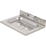 Fortune Premium Stainless Steel Single Square Soap Dish / Soap Holder / Soap Stand