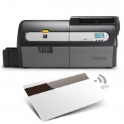 ZXP7 Codifica Banda Magnetica + Smart Card MIFARE® Contactless + Contact Encoder. Dual Side. USB+ETH. Stampante Zebra a colori.