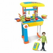 2 in 1 Little Chef Kids Kitchen Play Set for 3+ Ages Kids ( Yellow )