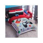 Cobertor Borrega Game Matrimonial Poliester Gris Concord