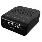 Sencor SRC136B fekete rádiós ébresztő óra