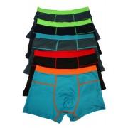 Toni bambus boxerky s barevnou gumou - 5ks XXL MIX