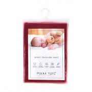 Polka Tots Maroon New Born Baby Mat Bed Protector Waterproof Sheet Reusable Absorbent Dry Sheet Extra Large (Pack of 1)