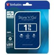 2,5 HDD (merevlemez), 1TB, USB 3.0, VERBATIM Store n Go, kék (HV1TSGK)