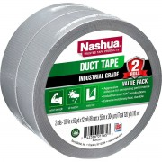Nashua Duct Tape Industrial Grade Silver 2 Pack 48mm x 55mm
