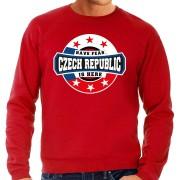 Bellatio Decorations Have fear Czech republic is here sweater voor Tsjechie supporters rood voor heren L - Feesttruien