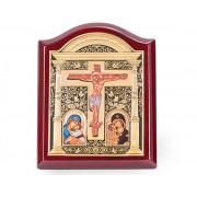 Icoana Credan Mantuitorul Iisus Hristos placata cu aur made in Spain