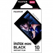 Fujifilm Instax Mini Film Black Frame - Film instant, 10 bucati