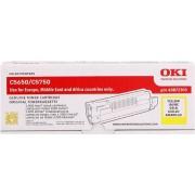 Oki toner zólty oryginał 43872305