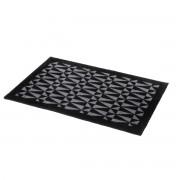 tica copenhagen - Graphic Fußmatte, 60 x 90 cm, schwarz / grau
