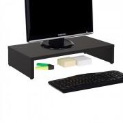 IDIMEX Support d'écran d'ordinateur MONITOR, en mélaminé noir mat
