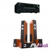 Pachet Receiver AV Onkyo TX-NR676E + Sistem de Boxe Jamo S 626 HCS