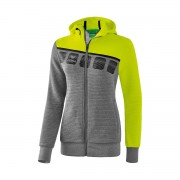 Erima 5-Cubes - Damen Trainingsjacke mit Kapuze