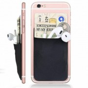 Mode créative élastique lycra téléphone portable cas de portefeuille femmes hommes crédit carte d'identité titulaire bâton de poche 3 M adhésif 9,9 * 5,5 cm 1
