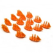 Settlers of Catan Seafarers Expansion Ship Pieces - Incan Empire - Orange - Single Player Set - 15 Ships