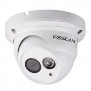 Caméra dome intérieure IP LAN/POE HD 720p blanche - Foscam
