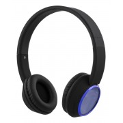 STREETZ HL-346 Draadloze Bluetooth On-ear hoofdtelefoon met microfoon en optioneel 3,5 mm Kabel Blauw-Zwart