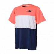 ニューバランス newbalance ベーシックカラーブロックゲームTシャツ メンズ > アパレル > テニス > トップス ピンク