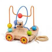 Baybee Premium Wooden Bead Maze Trolley- Pull Along Toyset