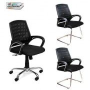 Earthwood -Buy 1 Mesh Back Office Chair Get 2 Visitor Chairs Free